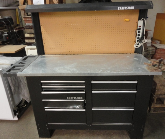 Shop Lights Sears: 8 Foot Craftsman Workbench – $200